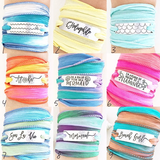 Image of Silk Wrap Bracelets