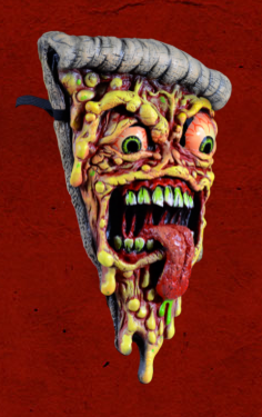 Image of JIMBO PHILLIPS - OFFICIALLY LICENSED PIZZA FIEND FACE MASK (last2)