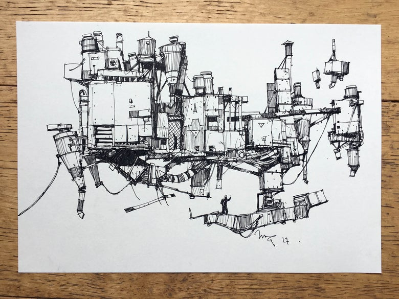 "Image of ""Duct World 2"" original artwork"
