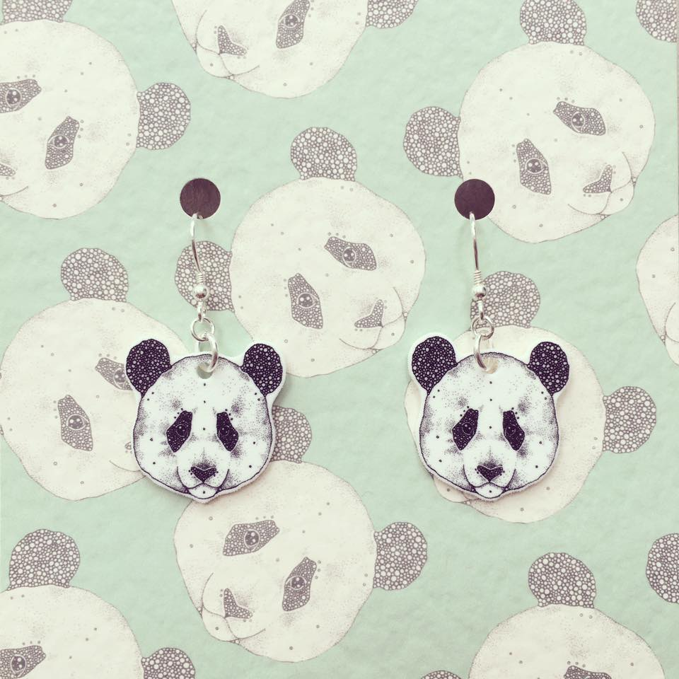 Image of Panda Earrings