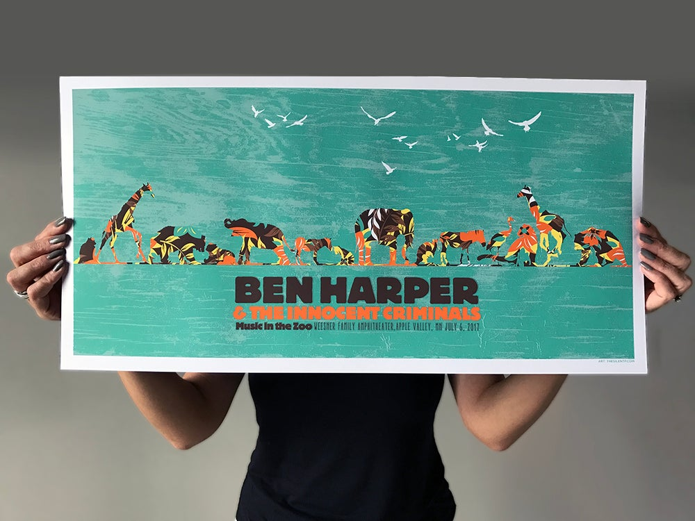 Image of Ben Harper & The Innocent Criminals, At The Zoo Poster