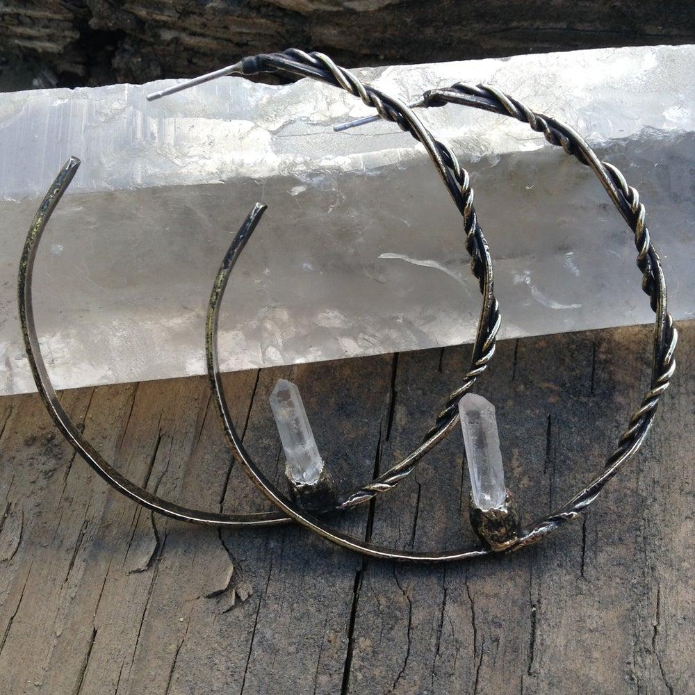 Image of Orbital Return Hoop Earrings