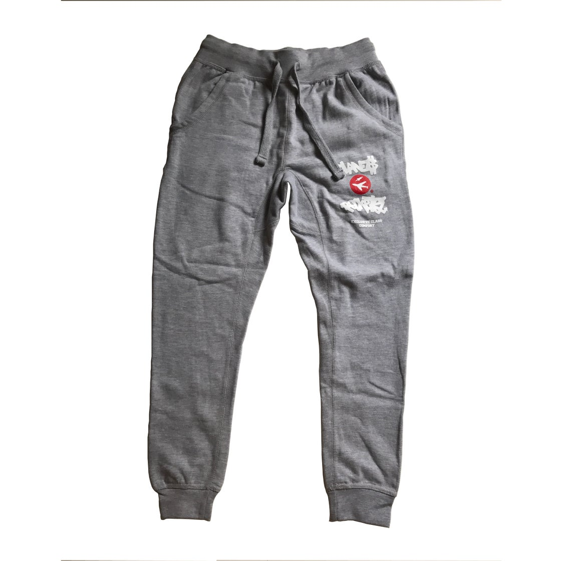Image of College Logo Joggers in Heather Grey