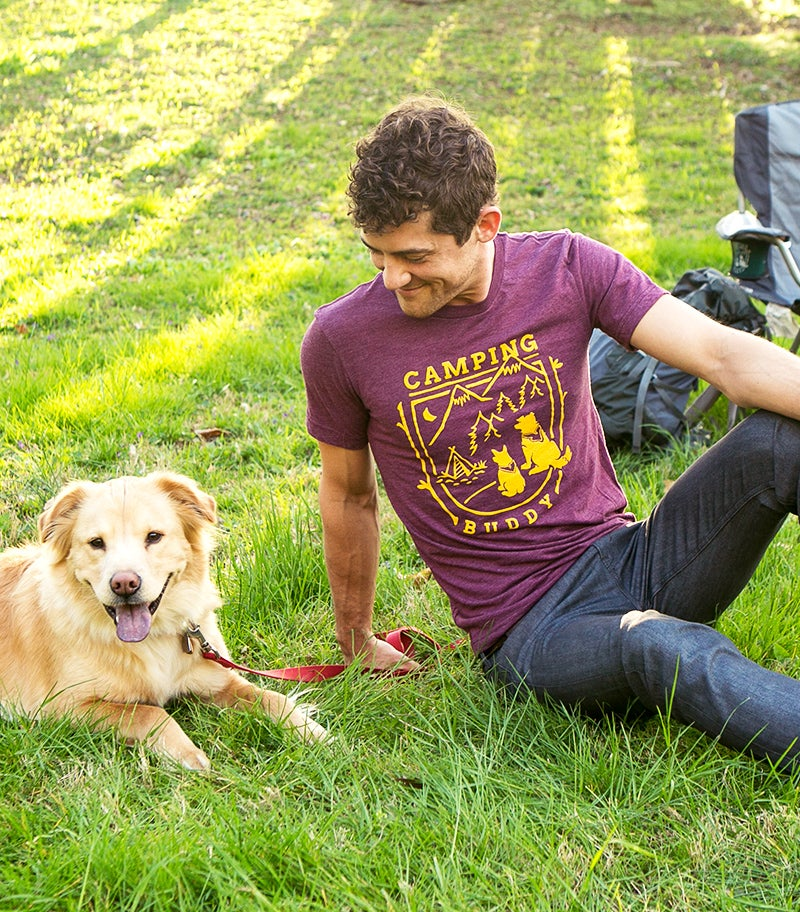 Image of Camping Buddy Tee - Maroon Triblend