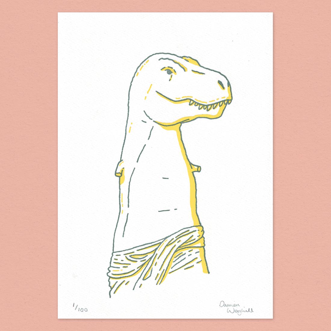 Image of Venus De Dino - Letterpress Print