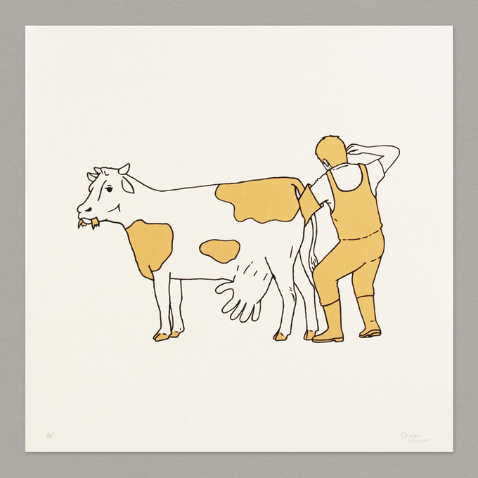 Image of Golden Cow - Screenprint