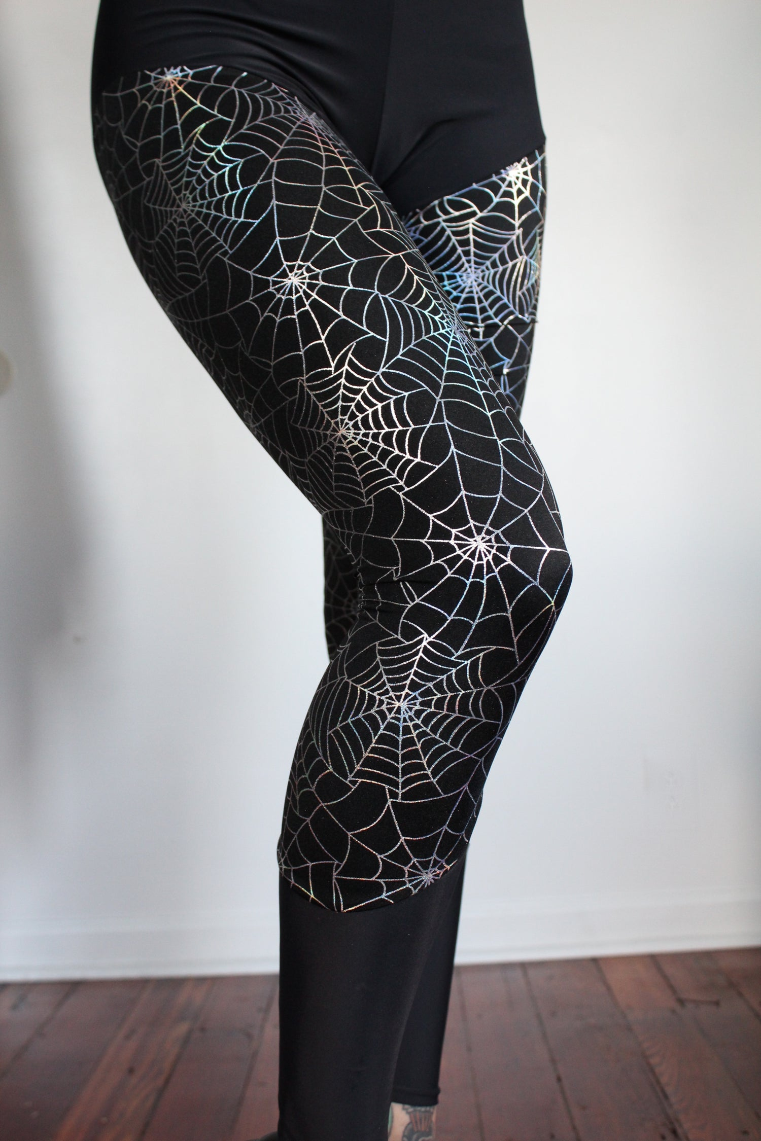 Image of Holographic SpiderWeb leggings
