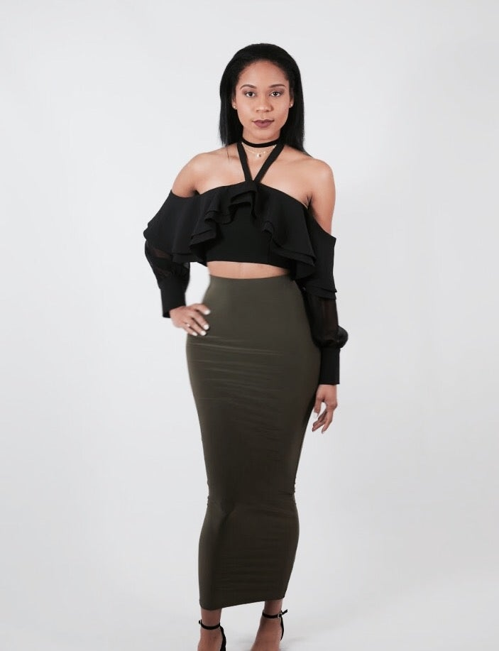 Image of Maxi Pencil Skirt