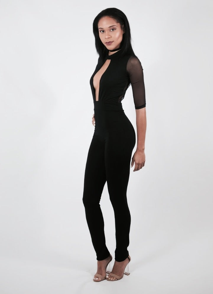 Image of Mesh Up Jumpsuit