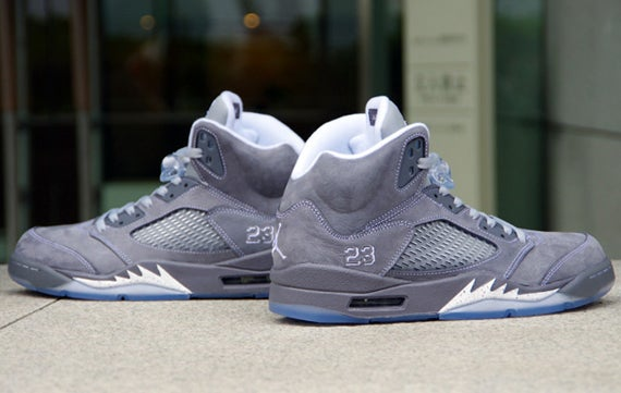 "Image of Air Jordan 5 ""Wolf Grey""/ Graphite"