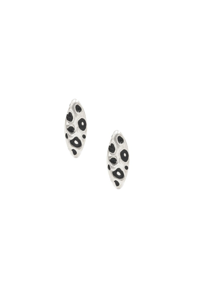 Image of Snow Leopard Cat Eye Studs