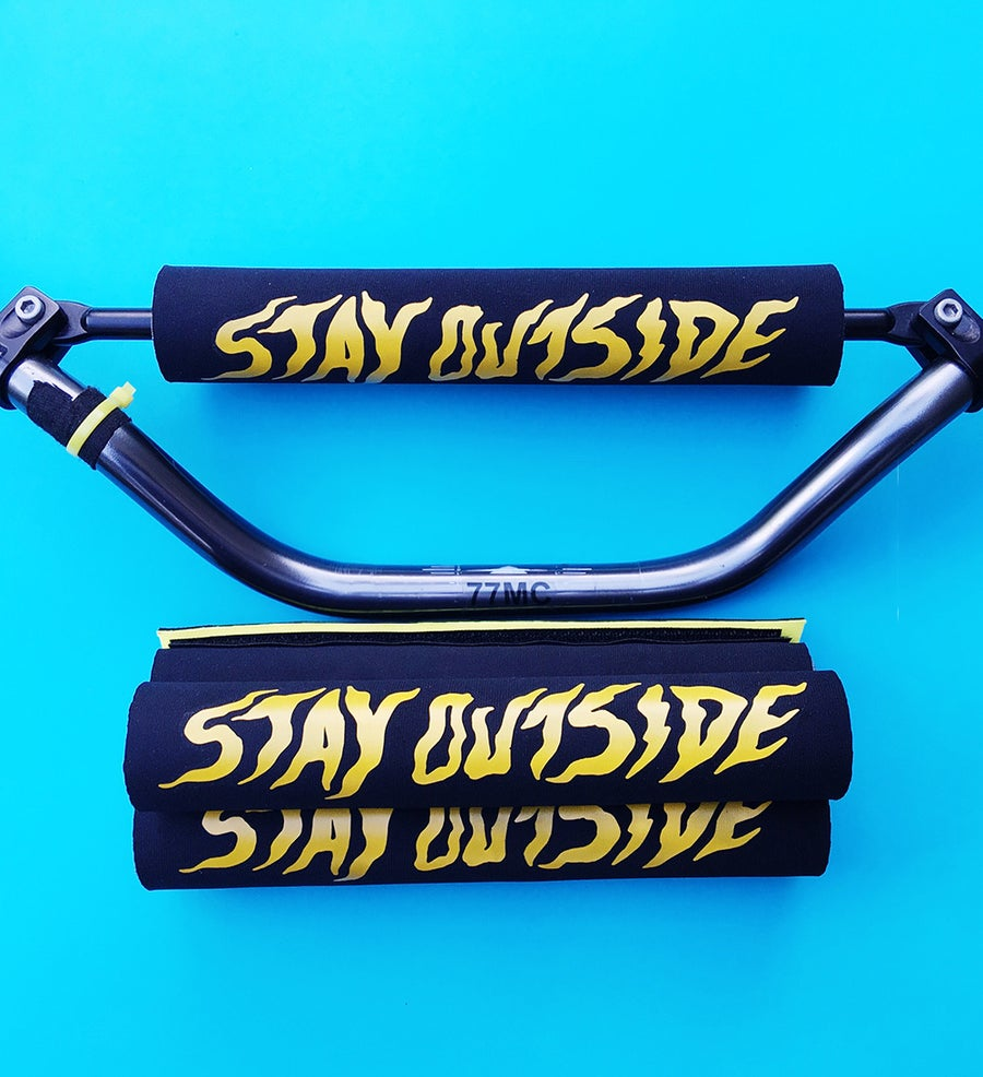 Image of Stay Outside - Brace Bar Pad - Yellow on black