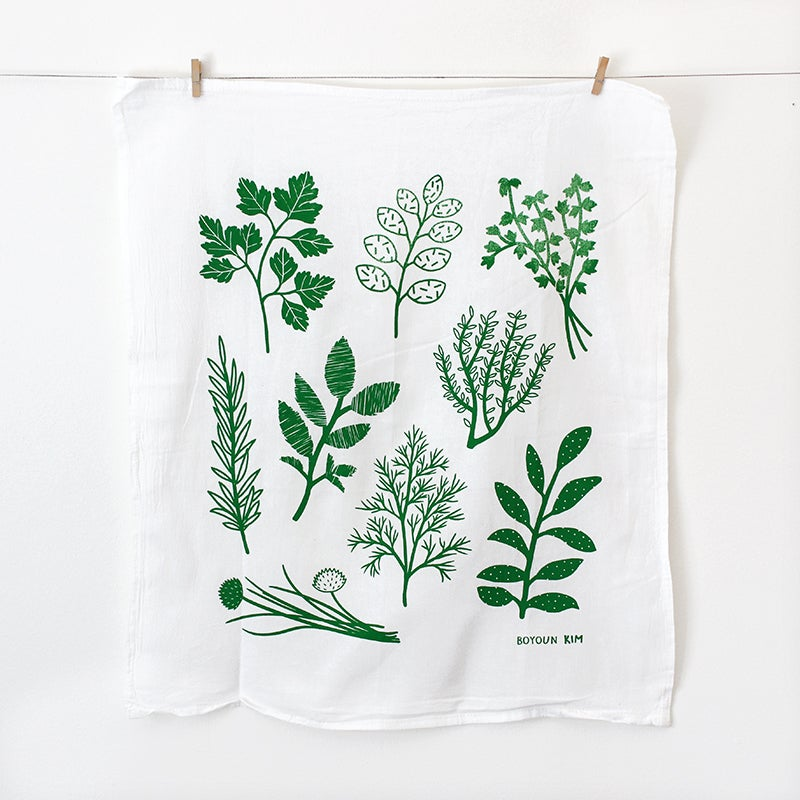 Image of Herbs Tea Towel