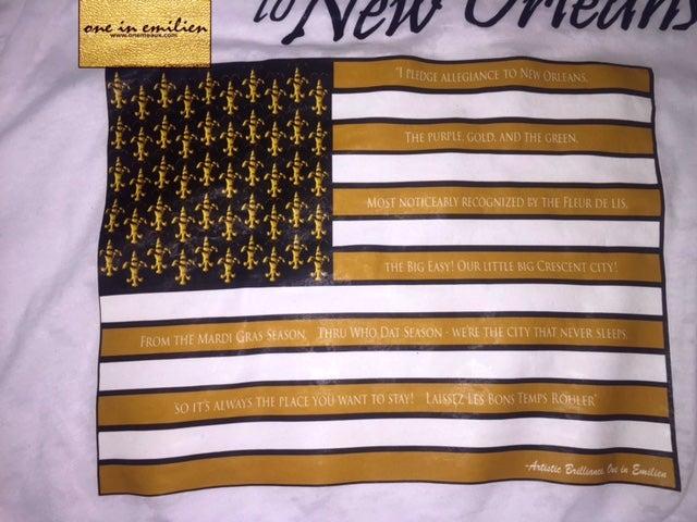 Image of NOLA Pledge Women's Burnout Hooded Shirt