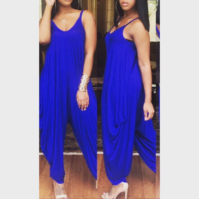 Image of Casual Romper- Royal Blue