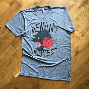 """Image of The """"Demand Respect"""" Tee Version 1 in Gray Triblend"""