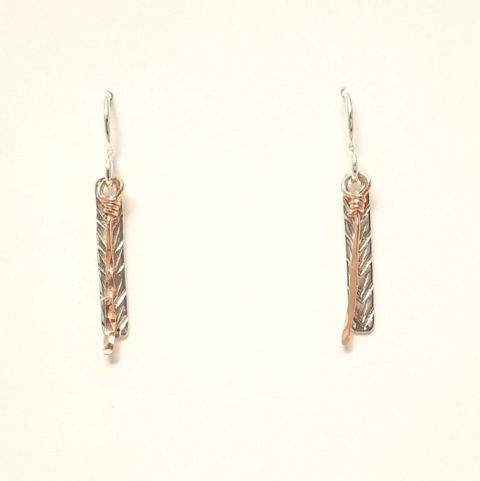 Image of Reflections of a fern earrings short
