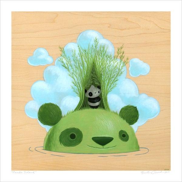 """Image of """"Panda Island"""" giclee"""