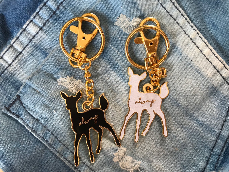 Image of Always Doe Patronus Harry Potter Enamel Bag Charm/Keychain