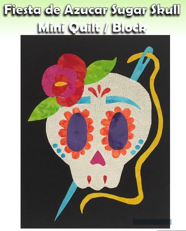Image of PDF - Sewing Sugar Skull Block - Fiesta de Azucar