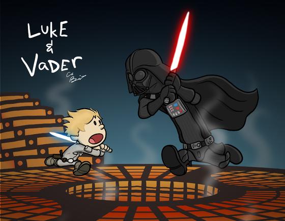 """Image of """"Luke & Vader"""" Art Print"""