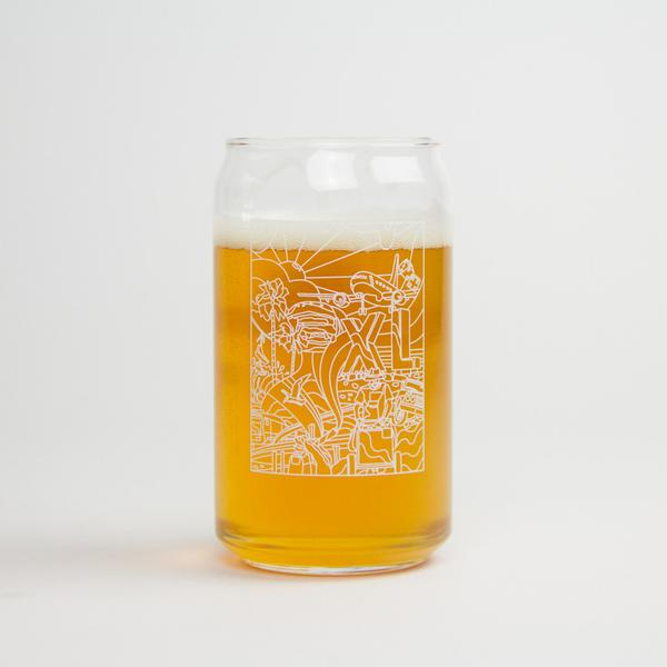 Image of XLARGE - PSYCHEDELIC LA GLASS