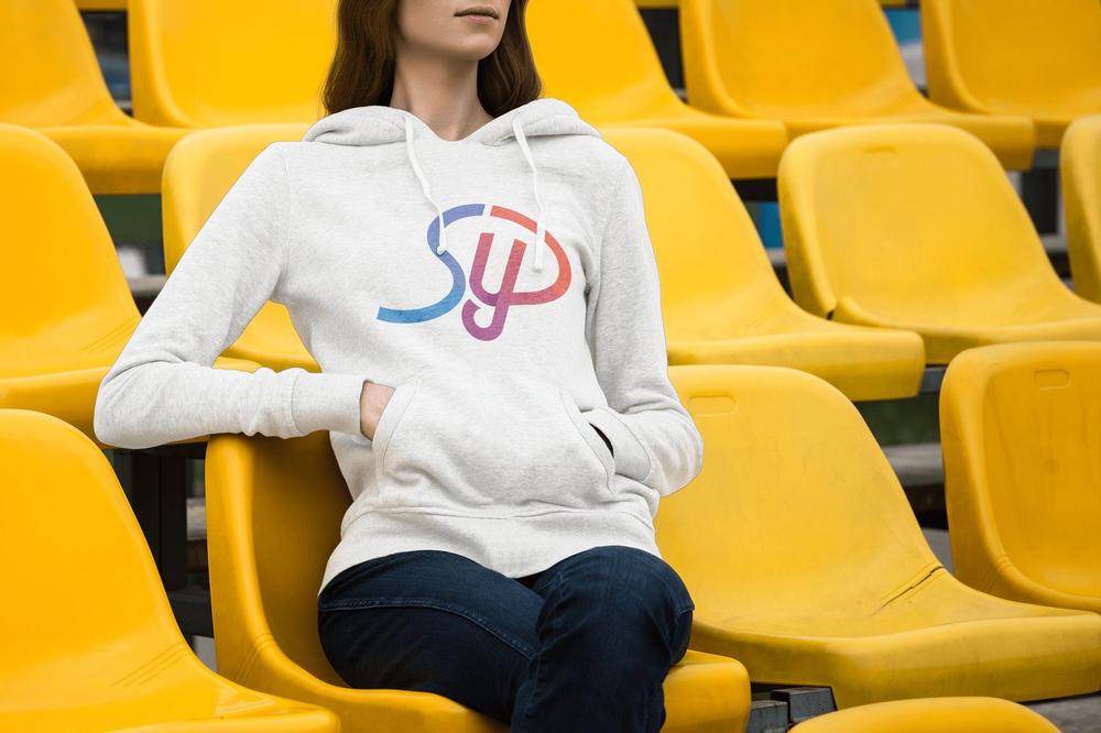 Image of White Large Logo Hoodie - Unisex