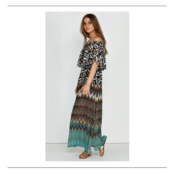 Image of She & Hers Maxi Dress Green Print