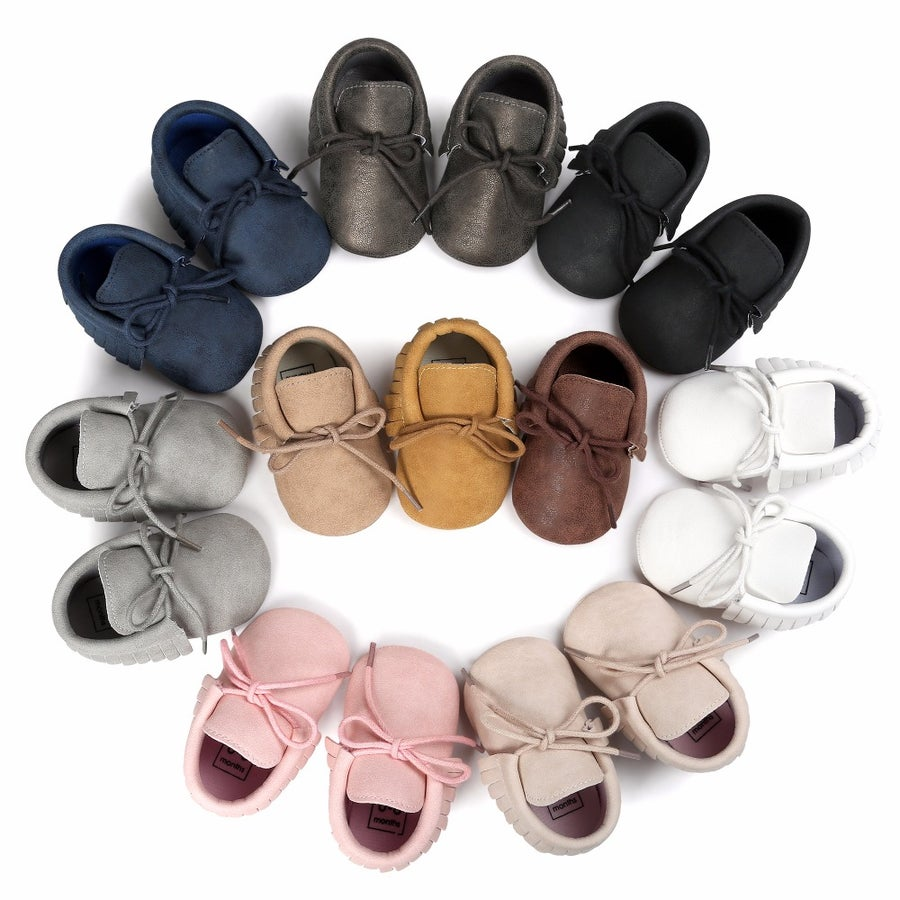Image of Vegan Leather Soft Sole Moccasins
