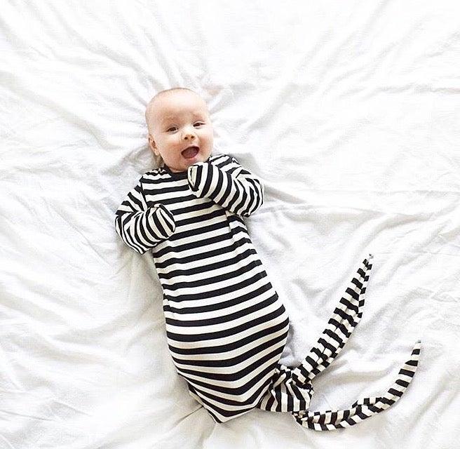 Image of Black & White Stripe Sleeping Sack