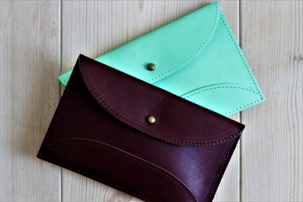 Image of Wallet (papaya/ blue)