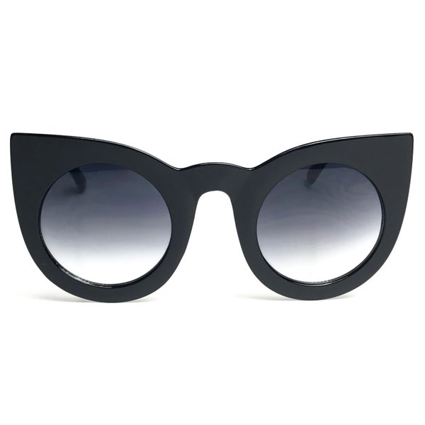 Image of POP Oversized Cateye Sunglasses - Black