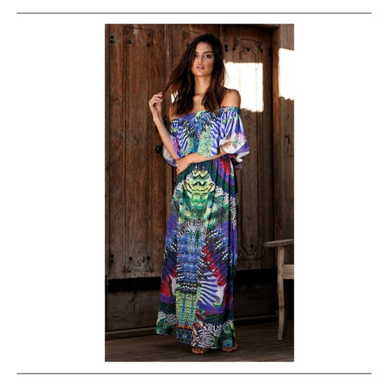 Image of She & Hers Maxi Dress Floral Print