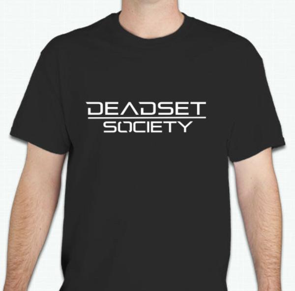 Image of <b>DEADSET SOCIETY</b><br> Black T-Shirt w/ White Logo  <br>