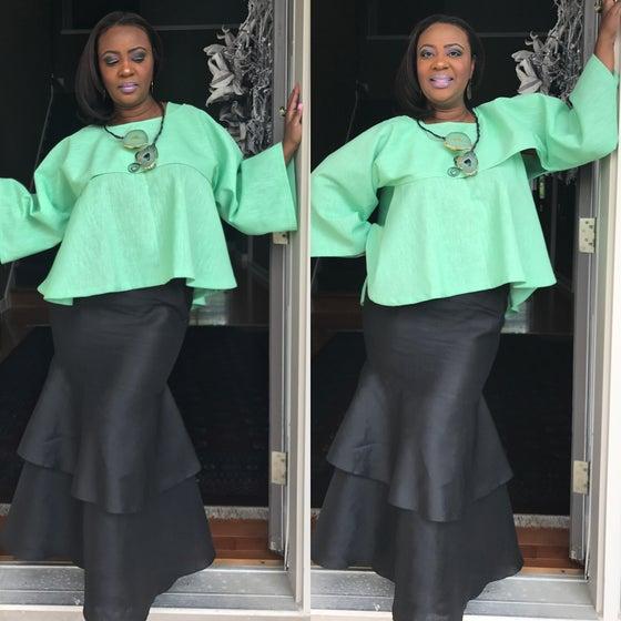 Image of Luxe Linen Retro Top $95 Luxe Linen Skirt $95