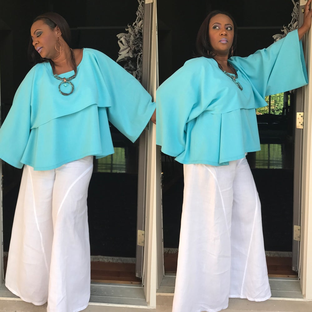 Image of Luxe Linen Retro top and shrug