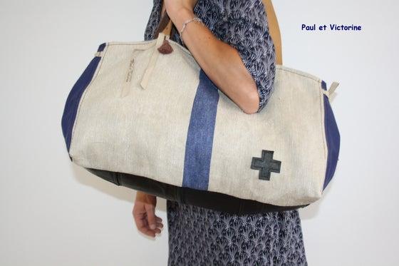 Image of *GRAND CABAS ET SA POCHETTE* *BIG BLUE BAG*