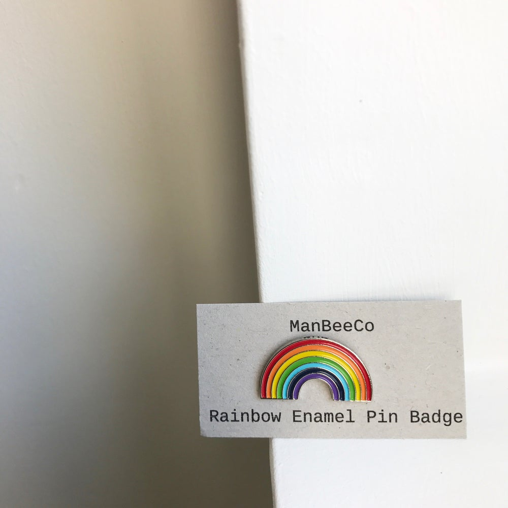 Image of Rainbow enamel pin badge
