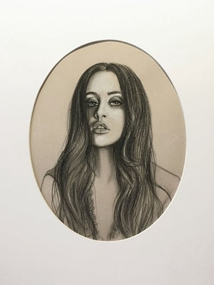Image of Marti Jean in Necklace Study - Framed Drawing