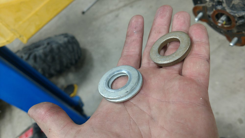 Image of RZR upgraded axle washers.