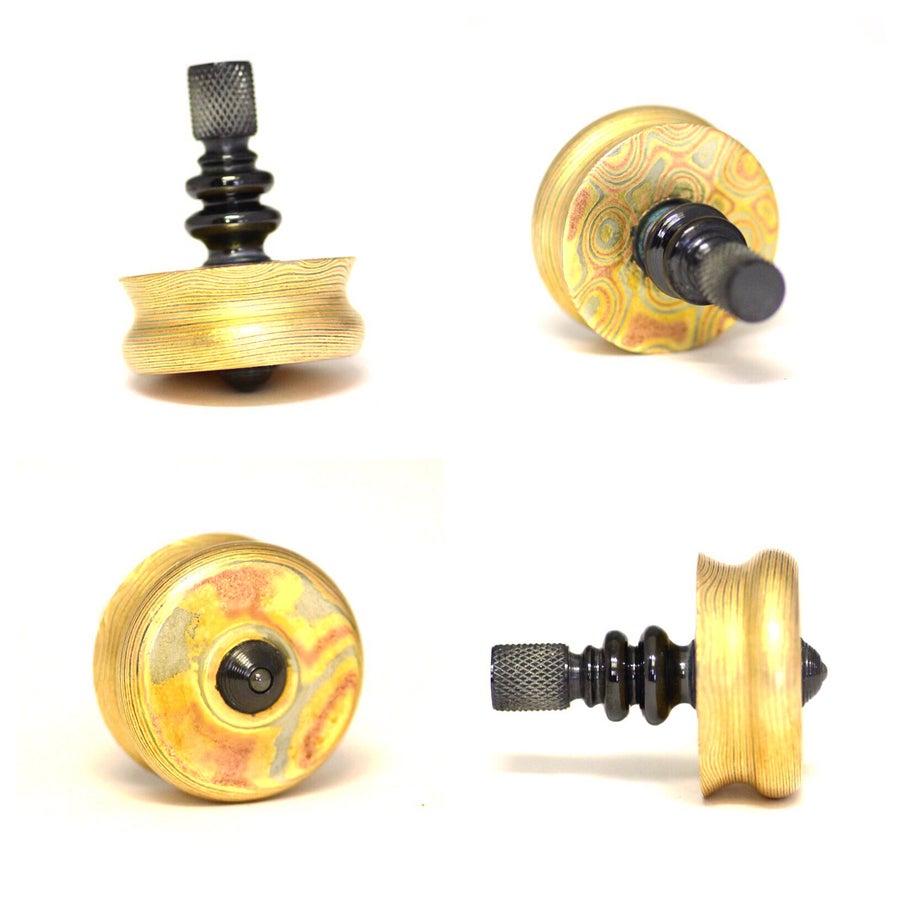 Image of Mokume & Zirc Stem Spinning top