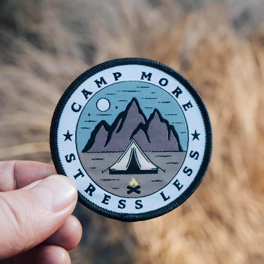 Image of Camp More, Stress Less - Embroidered Patch