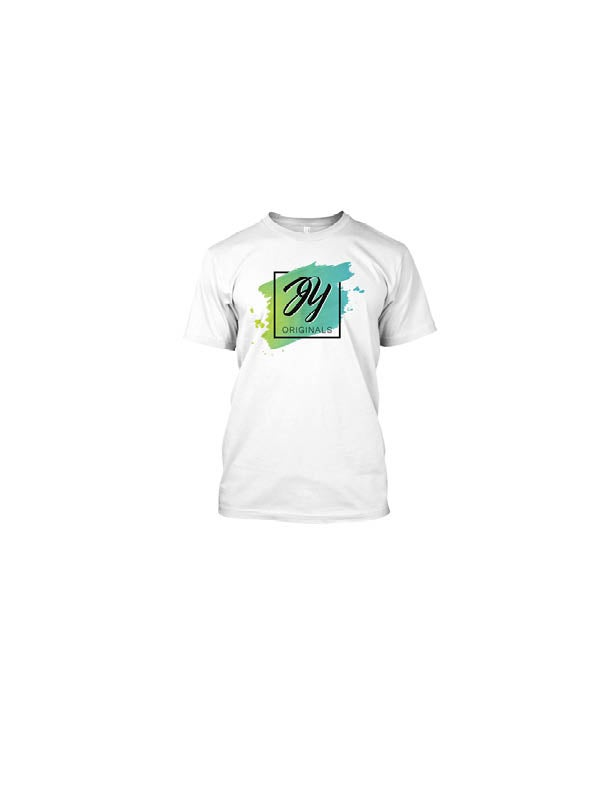 Image of The Supporter Package (White): JY Originals Logo Tee + Logo Sticker