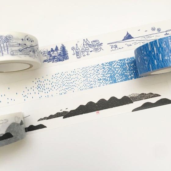 Image of Classiky Washi Tape /SHIMANAMI/Rain/France