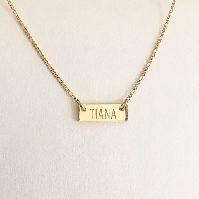 Image of Custom CLASSIC GOLD BAR Acrylic Necklace