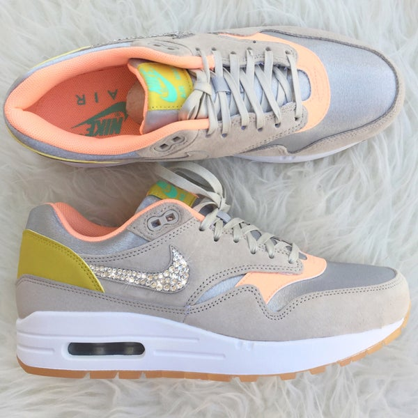 Image of Custom Nike Air Max 1 - Metallic/Silver
