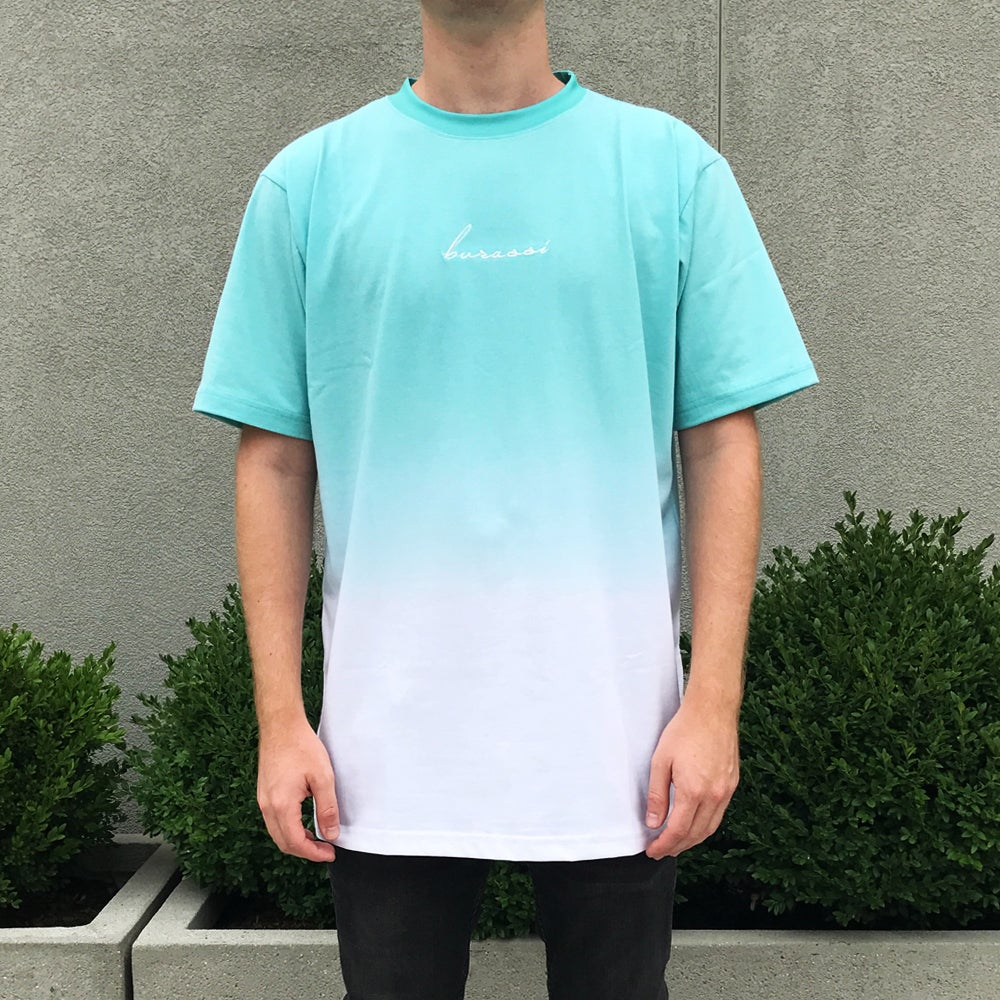 Image of Mint Dip Dye Tee