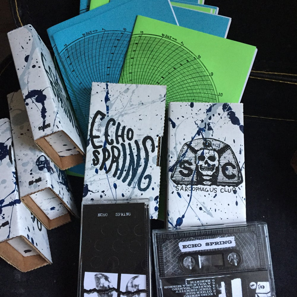 Image of ECHO SPRING S/T EP 2017 CASSETTE TAPE WITH ZINE BY ANDI HARMAN