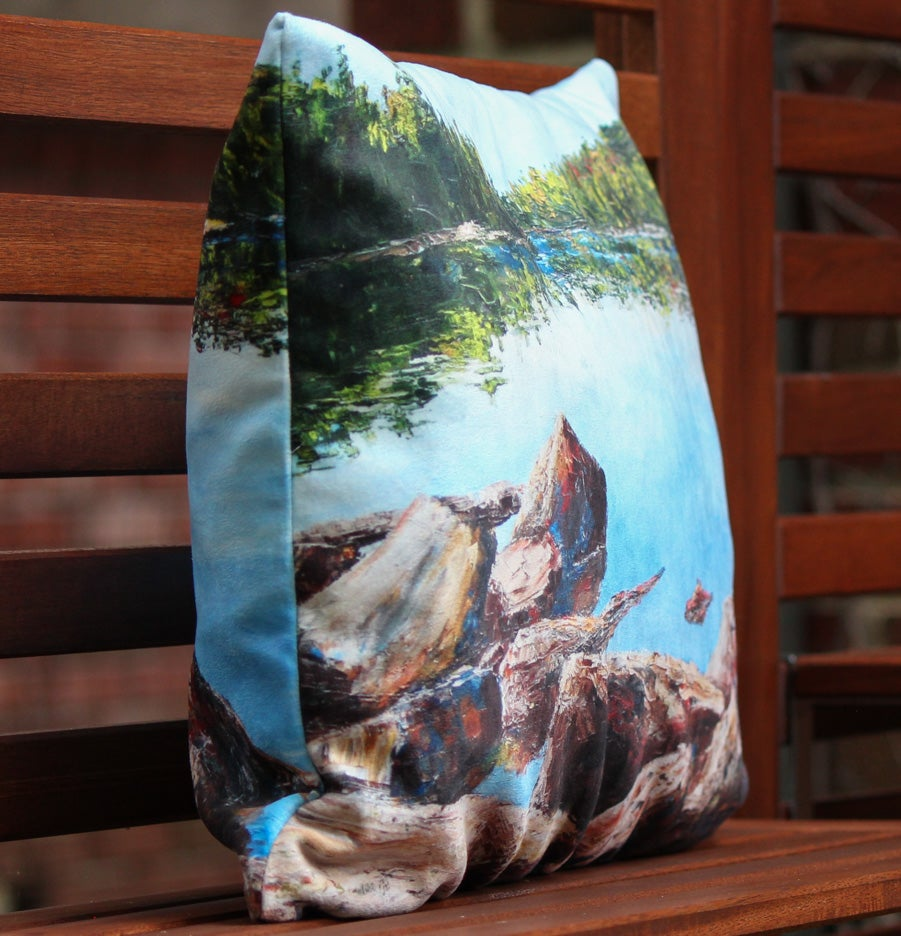 Image of - On The Rocks Pillow -