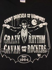 "Image of NEW! ""COUNT DRACULA"" - CRAZY CAVAN T-SHIRT-"
